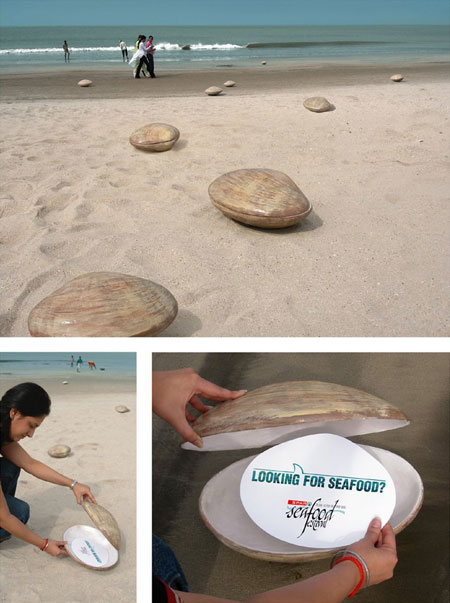 Shells-at-the-Beach-Guerrilla-Marketing