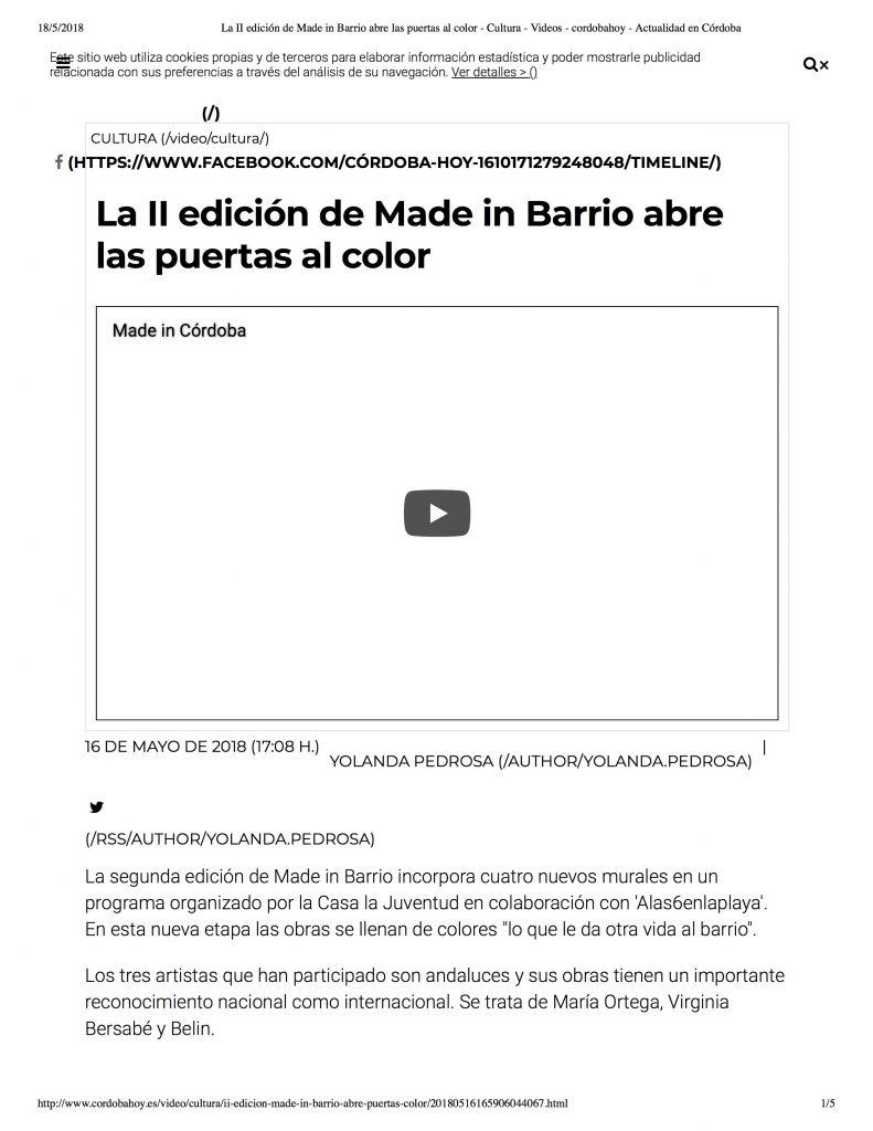 Córdoba Hoy – Mayo 2018