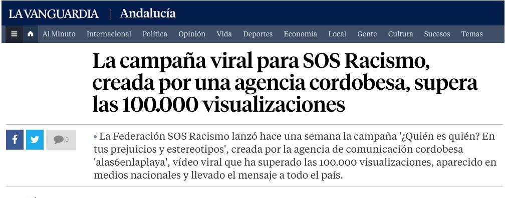 La Vanguardia. Noviembre 2018.